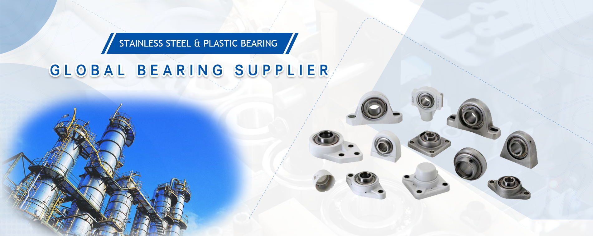 Stainless steel & plastic bearing